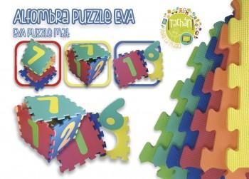 PUZZLE 10 PZS GOMA EVA SUELO NUMEROS TACHAN REF-73910013