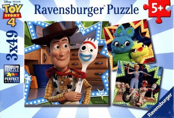 PUZZLE TOY STORY 4   3X49 PZAS RAVENSBURGER 080670