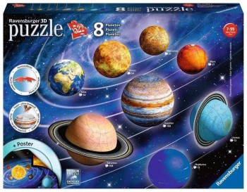 PUZZLE  3D 122 PZAS SISTEMA PLANETARIO RAVENSBUREER 116683