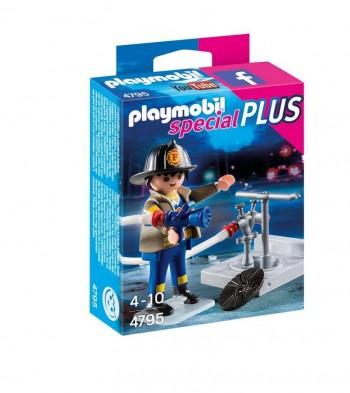 PLAYMOBIL BOMBERO CON MANGUERA 4795