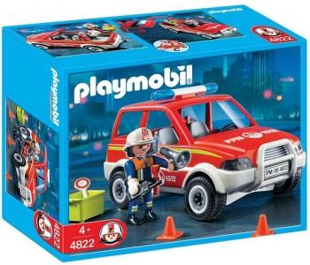 PLAYMOBIL COCHE DE BOMBEROS 4822