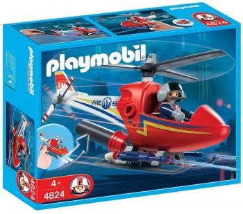 PLAYMOBIL HELICOPTERO INCENDIOS 4824