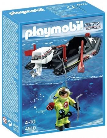 PLAYMOBIL LANCHA C/BUZO 4910
