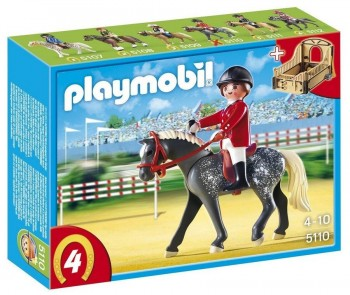 PLAYMOBIL JINETE C/CABALLO 5110