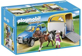 PLAYMOBIL VEHICULO C/REMOLQUE PONIS 5223