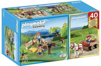 PLAYMOBIL SET PONI+CARRETA C/PONI 5457