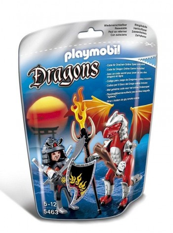 PLAYMOBIL DRAGON FUEGO CON GUERRERO 5463