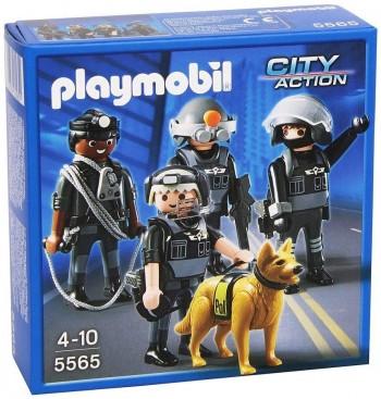PLAYMOBIL EQUIPO DE UNIDAD DE POLICIA 5565
