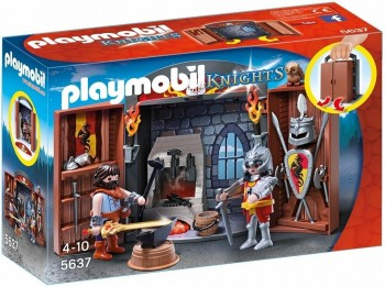 PLAYMOBIL COFRE CABALLEROS MEDIEVALES 5637