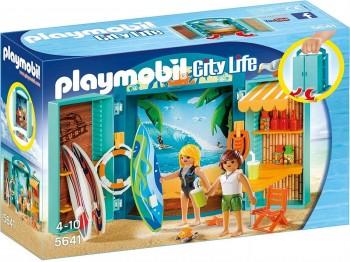 PLAYMOBIL CITY LIFE COFRE TIENDA SURF 5641