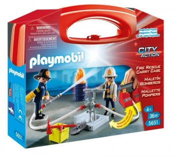 PLAYMOBIL CITY MALETA BOMBEROS 5651