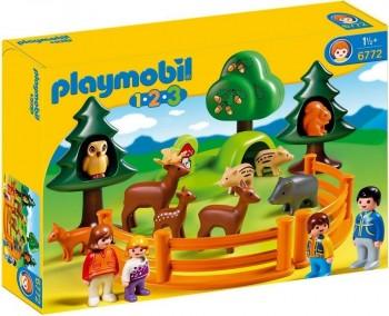PLAYMOBIL 1 2 3 PARQUE DE ANIMALES 6772