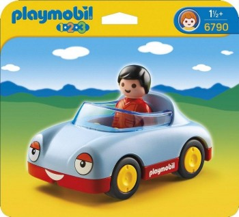 PLAYMOBIL 1 2 3 COCHE DESCAPOTABLE 6790