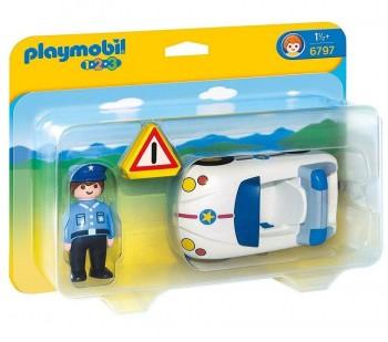 PLAYMOBIL 1 2 3 COCHE POLICIA 6797