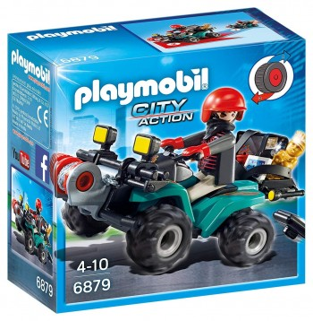 PLAYMOBIL CITY LADRON CON KUAD 6879