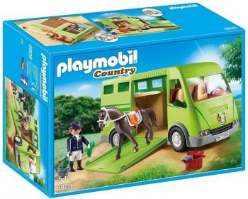 PLAYMOBIL COUNTRY TRANSPORTE CABALLOS 6928