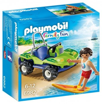 PLAYMOBIL FAMILY FUN SURFISTA CON QUAD 6982