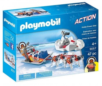 PLAYMOBIL ACTION TRINEO DE HUSKYS 9057