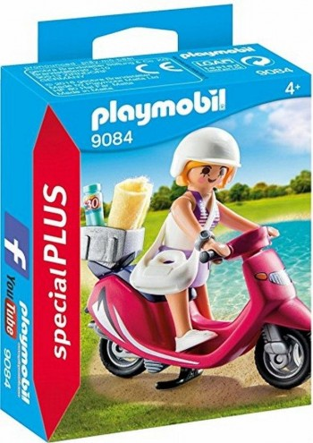 PLAYMOBIL PLUS MUJER CON SCOOTER 9084