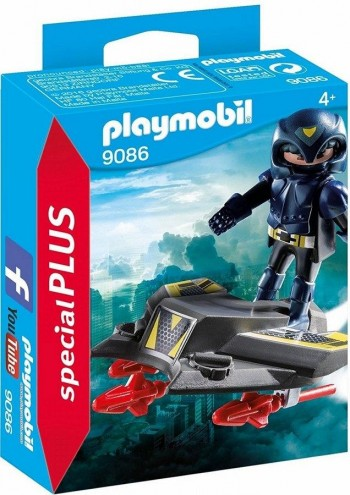 PLAYMOBIL PLUS ESPIA CON JET 9086