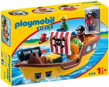 PLAYMOBIL 1-2-3 BARCO PIRATA 9118
