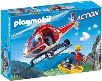 PLAYMOBIL CITY HELICOPTERO DE RSCATE DE MONTAÑA 9127
