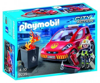 PLAYMOBIL CITY ACTION COCHE DE BOMBEROS 9235