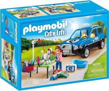 PLAYMOBIL CITY LIFE COCHE LAVANDERIA DE PERROS 9278