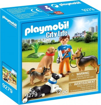 PLAYMOBIL CITY LIFE ADIESTRADOR PERROS 9279