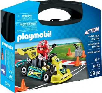 PLAYMOBIL CITY MALETA GO KART 9322