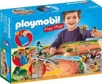PLAYMOBIL PLAY MAP MOTORISTAS 9329