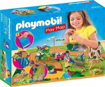 PLAYMOBIL PLAY MAP PASEO PONIS 9331
