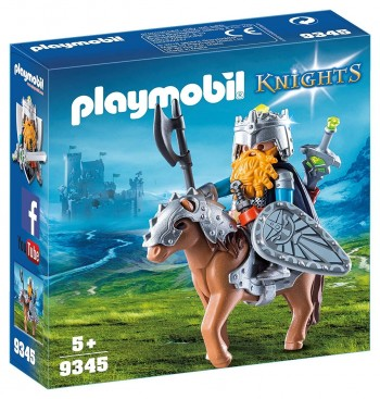 PLAYMOBIL KNIGHTS GNOMO CON PONI 9345