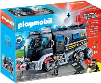 PLAYMOBIL CITY CAMION POLICIA  LUZ LED 9360