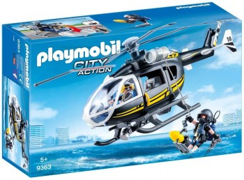 PLAYMOBIL CITY HELICOPTERO FUEZAS ESPECIALES 9363