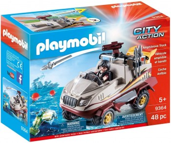 PLAYMOBIL CITY COCHE ANFIBIO 9364
