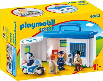 PLAYMOBIL 123 COMISARIA POLICIA MALETIN 9382