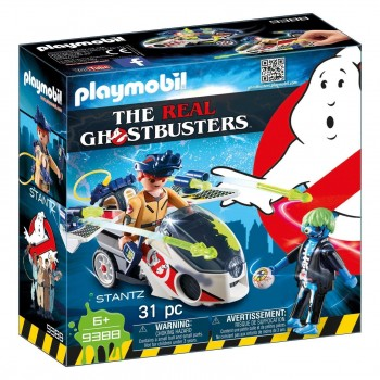 PLAYMOBIL GHOSTBUSTERS STANTZ CON VEHICULO 9388