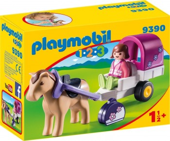 PLAYMOBIL 123 CARROZA NIÑA 9390