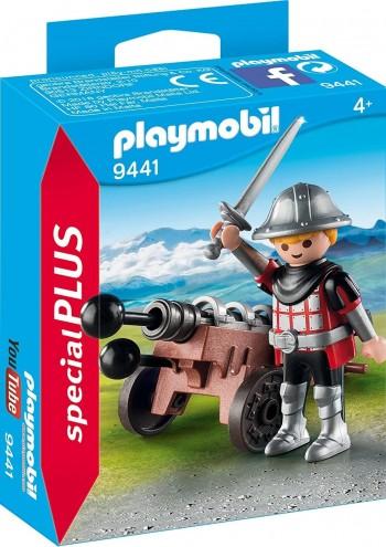 PLAYMOBIL PLUS  CABALLERO CON CAÑON 9441