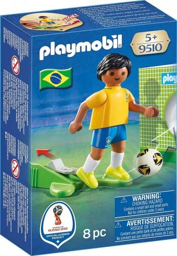 PLAYMOBIL JUGADOR FUTBOL SELECCION BRASILEÑA 9510