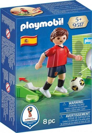 PLAYMOBIL JUGADOR FUTBOL SELECCION ESPAÑOLA 9517