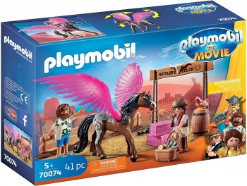 PLAYMOBIL THE MOVIE MARIA DEL Y CABALLO 70074