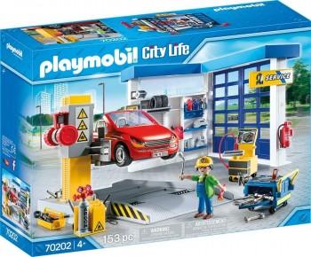 PLAYMOBIL CITY LIFE TALLER DE COCHES 70202