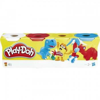 PLAY-DOH PLASTILINA PACK 4 BOTES HASBRO 456B5517