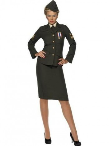 DISFRAZ MUJER OFICIAL MILITAR AD SMIFFYS 35335