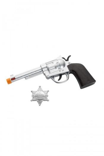REVOLVER + CHAPA SHERIFF SMIFFYS 22333
