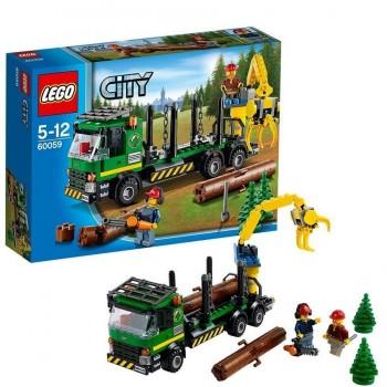 LEGO CITY CAMION DE TRANSPORTE DE TRONCOS 60059