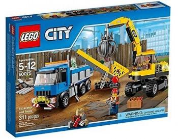 LEGO CITY EXCAVADORA Y CAMION 60075
