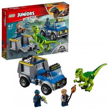 LEGO JUNIOR JURASSIC CAMION RESCATE RAPTOR 10757
